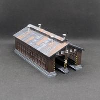 【受注生産】KATO 木造機関庫(塗装・組み立て完成品)