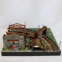 廃墟と牧場 ミニジオラマ (モジュールレイアウト)