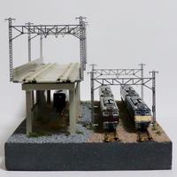 【受注生産】高架線と操車場_02 ミニジオラマ(モジュールレイアウト)