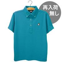 アンブレラマブイくんボタンダウンポロシャツ(ターコイズ)