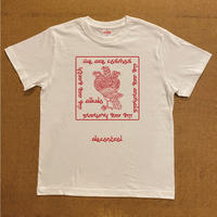 ALKDO / 三頭一足鷹 DECONTROL T-shirts White/Red