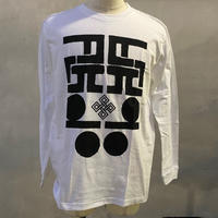 ALKDO/ハングルモドキ LongT-shirts White/Black