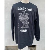 ALKDO / 三頭一足鷹 DECONTROL LongT-shirts Black