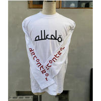 ALKDO / アラビックDECONTROL  LongT-shirts White/red