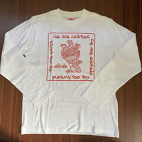 ALKDO /三頭一足鷹 DECONTROL Long T-shirts White/Red