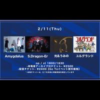 【Go Toイベント対象】【2/11(Thu)】-配信チケット- S.Dragon-Er/ユルグランド/Amygdalus/光&うみの