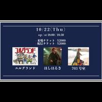 【10/22(Thu)】-来場者チケット- ユルグランド / 703号室 / ほしはるき