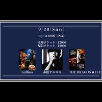 【9/20(Sun)】-ライブ配信チケット-   Luffian / 赤松クニユキ / THE DRAGON★FLY