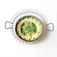 ぶどうの葉柄絵皿   (PL60)    1枚