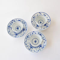 [TOURNAI] 青い花柄カップ&ソーサー    (OT29)    1セット