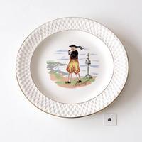 [GIEN] フランスの民族衣装シリーズデザート皿 -1  (PL66)   1枚