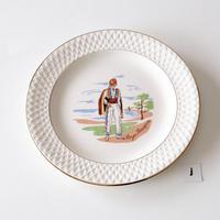 [GIEN]  フランスの民族衣装シリーズデザート皿 -3   (PL68)   1枚