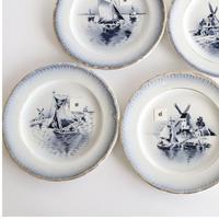 青い風景デザート皿     (PL84)    1枚