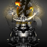 Japanese warrior SAMURAI  毘 A1サイズ ポスター