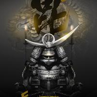 Japanese warrior SAMURAI 黒将-謙信- 4切ワイド額入り HG