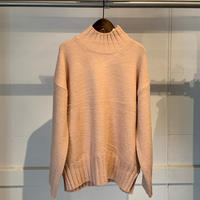 【SPAAACE...】モックネックニット PULL OVER4-PINK-F