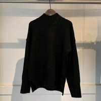 【SPAAACE...】モックネックニット PULL OVER4-BLACK-F