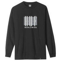 HUF LINEAR L/S TEE BLK