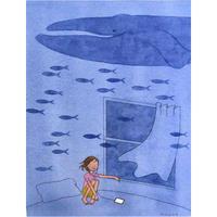 杉田比呂美「まるで水の中の魚」原画作品
