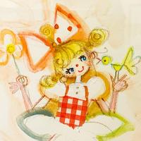 田村セツコ「ひみつのささやき」原画  tamura setsuko