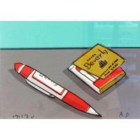 安西水丸「赤いペンとマッチ」  mizumaru anzai