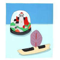 安西水丸「玩具の船」  mizumaru anzai