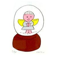 安西水丸「天使のスノードーム」  mizumaru anzai