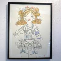 須川まきこ「パールのドレス」原画 sugawa makiko