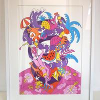 山崎若菜「Aloha」ジークレー版画 yamazaki wakana