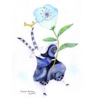はんまけいこ「風雲の花」原画