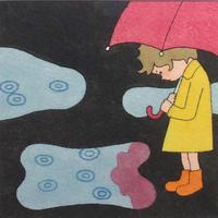 杉田比呂美「わっかがたくさん」原画作品