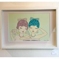 須川まきこ「White tea」原画 sugawa makiko