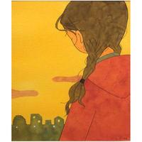 杉田比呂美「夕方のさよなら」原画作品