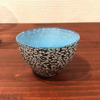 宮本崇輝 ガラス作品「カラー斑点おちょこ 青」