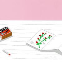 安西水丸「花のカード」