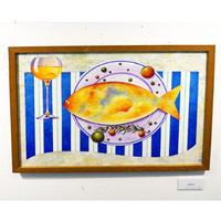 星野哲朗「Sea food」hoshino tetsuro(原画)