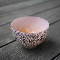 宮本崇輝 ガラス作品「カラー斑点おちょこ オレンジ」