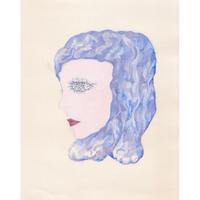 中村幸子「青い髪」原画