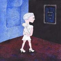 中村幸子「青い壁」原画作品