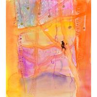 谷口広樹「仲間の到着を待つあいだに月と戯れて」原画作品