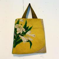 PLANTS OF PLANET 沢野弓子「黄色の背景の百合」BAG