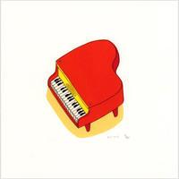 安西水丸「ピアノ」