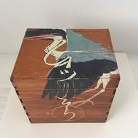 深谷良一作品「青鷺 木箱」