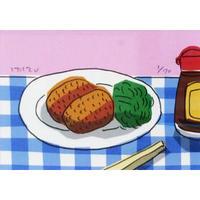 安西水丸「夕食」  mizumaru anzai