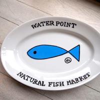 安西水丸グッズ「water point カレー皿」