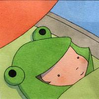 杉田比呂美「ずっと空をみている」原画作品