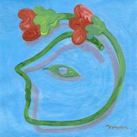 中村桃子「海に浮く花」原画