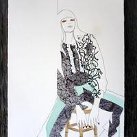 オカダミカ/micca「texture-fabric 5」(原画)