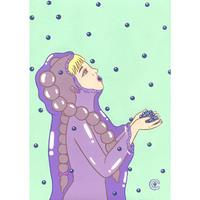 """竹井千佳「ぶどう」/ """"grape""""原画 chika takei"""