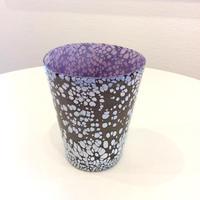 宮本崇輝 ガラス作品「カラー斑点グラス 紫」